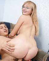 Kid couple have sexual intercourse